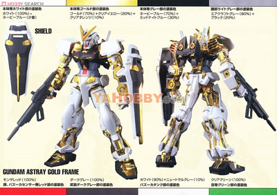 Gundam Seed Destiny 1/100 Model Kit Gundam Astray Gold Frame