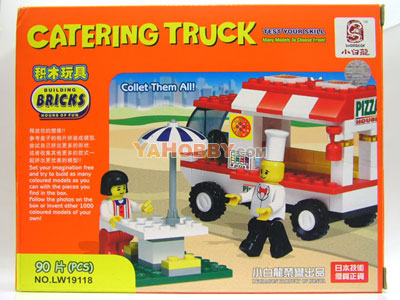 LWDRAGON Building Blocks Bricks CATERING TRUCK 19118