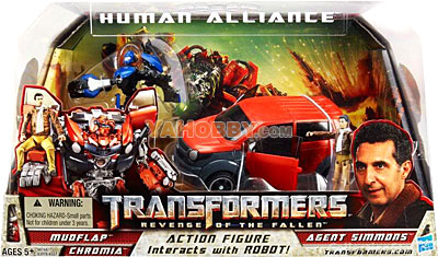 Transformers Movie 2 Human Alliance Mudflap with Agent Simmons