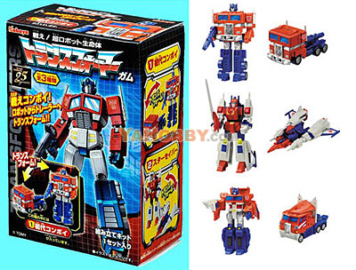 Kabaya Transformers Gum Plus Optimus Prime Convoy Assortment