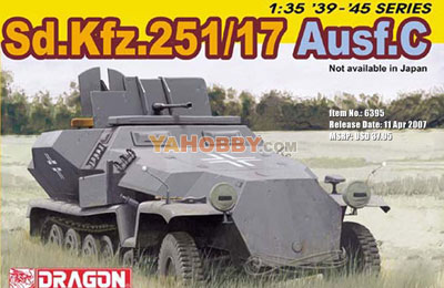 1:35 Dragon German Half-track SdKfz 251/17 Ausf C 6395