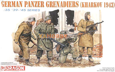 1:35 Dragon Military Model Kit SS Grenadiers Kharkov 1943 6059