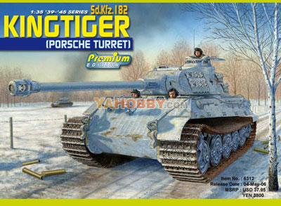 1:35 Dragon Kingtiger Porsche Turret Premium Edition Kit 6312