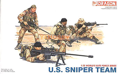 1:35 Dragon Military Model Kit Modern US Sniper Team 3016