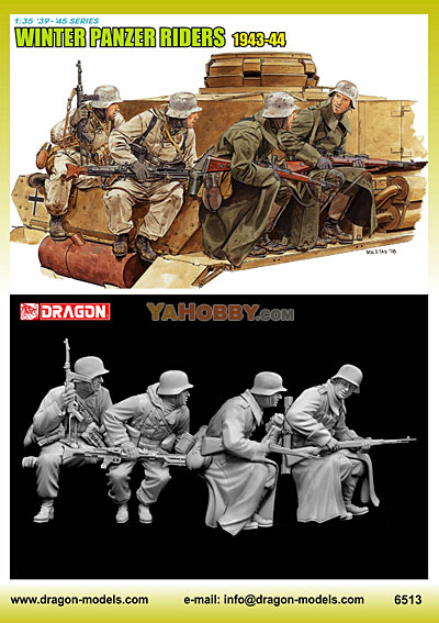 1:35 Dragon Winter Panzer Riders 1943-44 6513