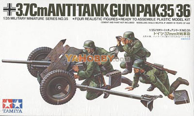 1:35 Tamiya Model Kit 3.7cm Anti Tank Gun Pak35/36 35035