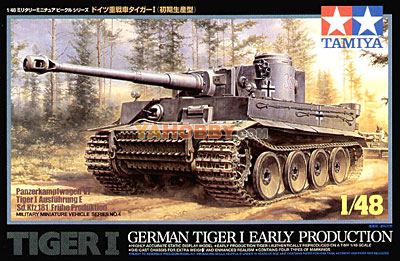 1:48 Tamiya Model Kit German Tiger 1 Early Production 32504