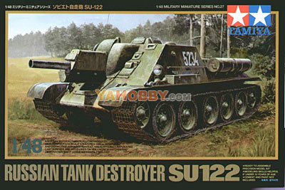 1:48 Tamiya Model Kit Russian Tank Destroyer Su122 32527