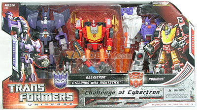 Transformers Classics 3-Pack Hot Rodimus Cyclonus Galvatron