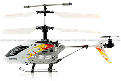 DFD F1-Series F106 4CH Mini Helicopter w/ Gyro (White)