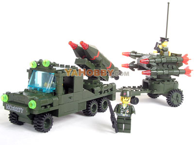 ENLIGHTEN Building Blocks Bricks Missile Car 0277