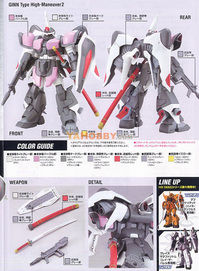 Gundam Seed Destiny HG 1/144 Model Kit Ginn Type High Maneuver 2