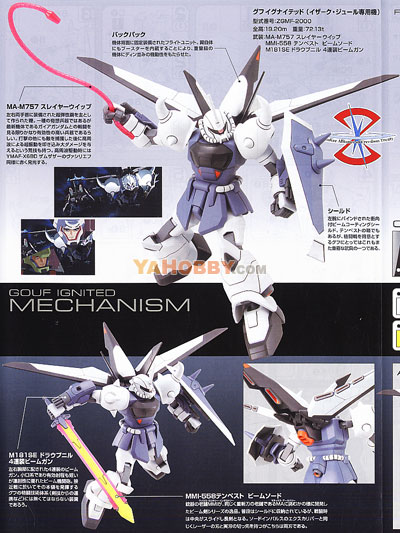 Gundam Seed HG 1/144 Model Kit Gouf Ignited Yzak Jule Custom