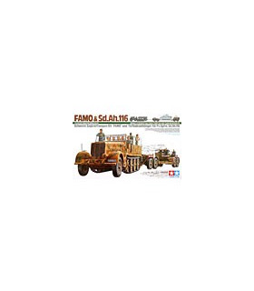 1:35 Tamiya Heavy Half Track Famo And Tank Transporter 35246