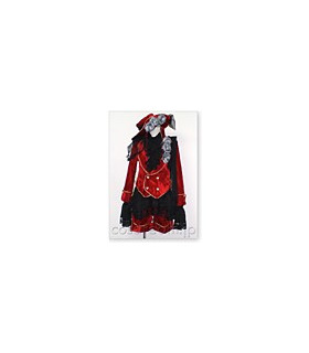 Black Butler Kuroshitsuji Cosplay Ciel Phantomhive Red Costume