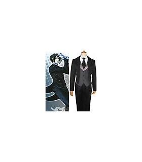 The Demon Black Butler Sebastian Long Black Cosplay Costume