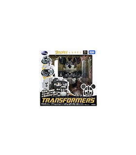 Disney Label Mickey Mouse Transformers Black and White Monochrom