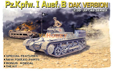 1:35 Dragon Panzer PzKpfw I Ausf B DAK Version 6207