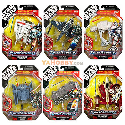 Star Wars Transformers Figures Series 6-2 Set of 6